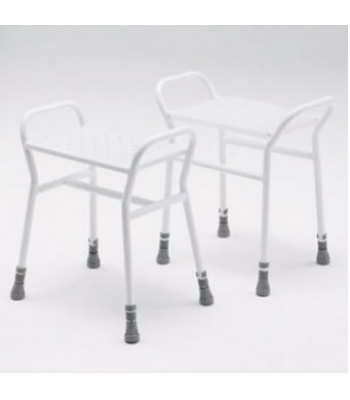 Roma 4216 Belmont Adjustable Shower Stool with Metal Seat